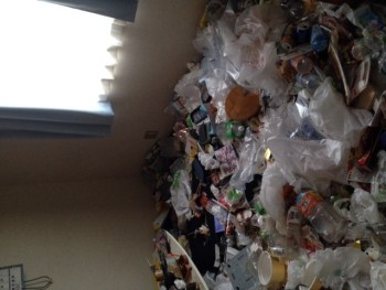 京都ワンルーム ゴミ屋敷掃除前